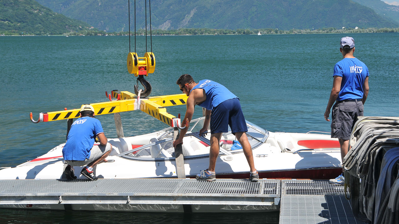 boat services lake como