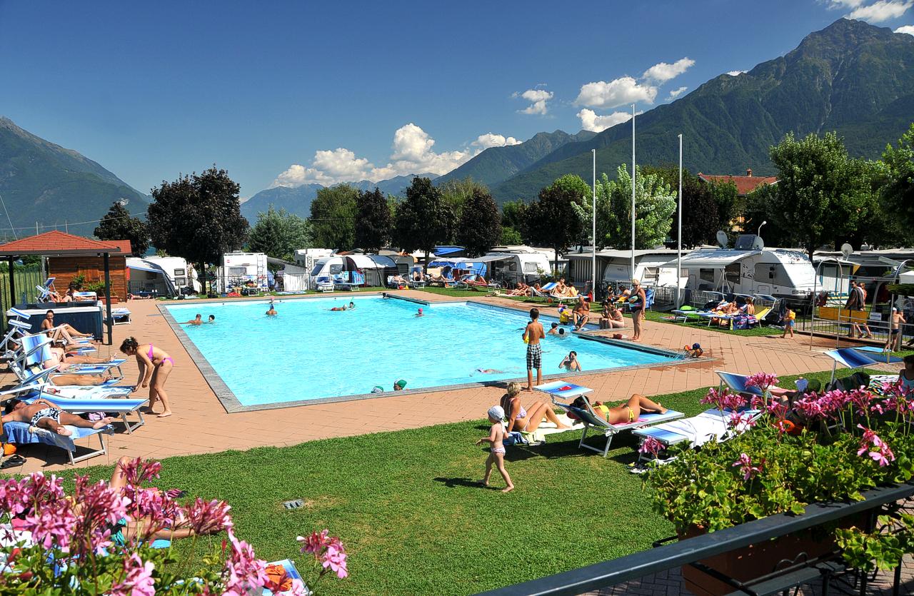 swimmingpool camping Le Vele domaso lake como